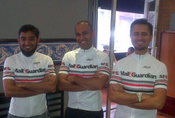 "The Ne M&G jersey worn by Mohammed Baroochi,Nazeer Saley and Mohamed ""Cappy"" Kaka"