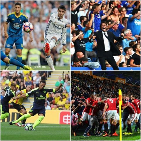 Weekend Footie Round Up. MANCS win in Fergie time. Conte looks strong.Arsenal rampant and Morata nets for Real. Good weekend for all I reckon . Your thoughts ?