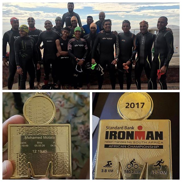 Again a special Congratulations to all the Athletes that completed Iron Man South Africa, especially the Fun Tri Group from Emmarentia. Had the privilege of knowing most of you for past 5 years. Many selfless athletes that continue to inspire and educate us in this sport rapidly developing in the community. I had my cousin @hoosainmayet with his extended PE family supporting on the PE roads. He described the atmosphere as electric. The participants gave their all in the event, very proud moments. He added the local community women were inspired by @mariamparuk and there was a buzz every time she passed. When they heard a Muslim female was taking part they scrambled quickly to make a banner for her. Athletes were breaking for salaat which was humbling too. Well done