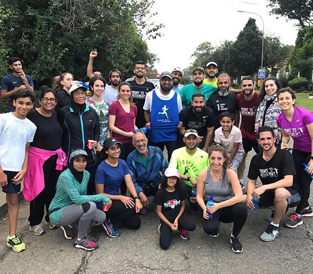 The group run with Palestinians at Emmarentia Dam