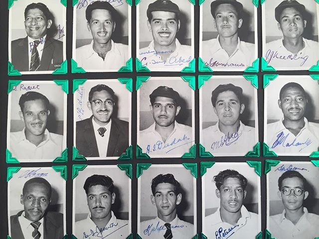 AUTOGRAPHS OF SA NON WHITE TEAM TOURING PARTY TO KENYA 1958-Captained by Legendary Basil De Oliveira