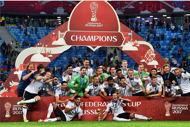 Germany are 2017 Confederations Cup Champions. Germany  1 Chile  0