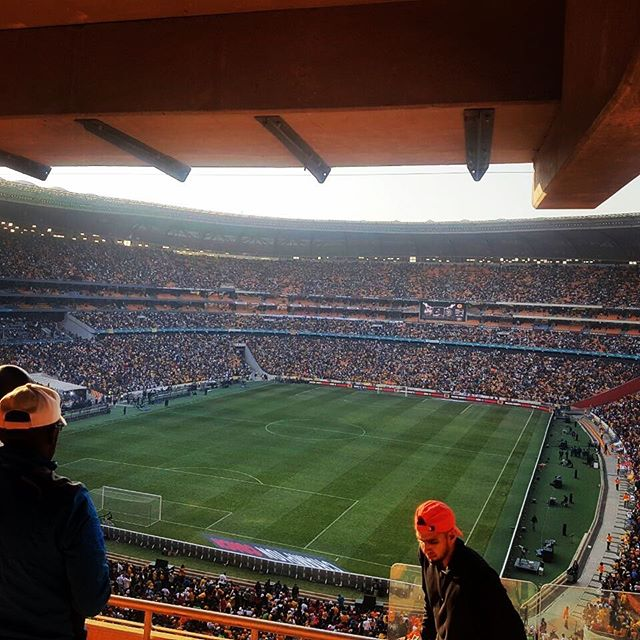 Our pic of the Day. Soweto Derby and Soccer City Stadium. Chiefs and Pirates. Condolences to the 2 Fans that lost their life in the stampede after the game