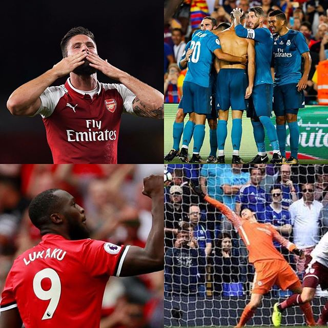 Weekend footie Round Up. Mubarak to all. So exciting that footie is back. Lots of talking points. Madrid winning the Classico, CR7 red card and ban,Chelsea getting thumped,good wins for Arsenal and Citeh. Liverpool conceding in the end. What's New. What's your views?