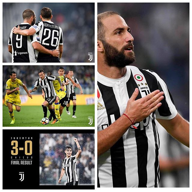 A good win against Chievo yesterday. Goals from Higuayn and Dybala added to own goal. Pjanic was class again in midfield. Now it's Barcelona in the Champions League this week. Forza Juve. Always a Bianconero