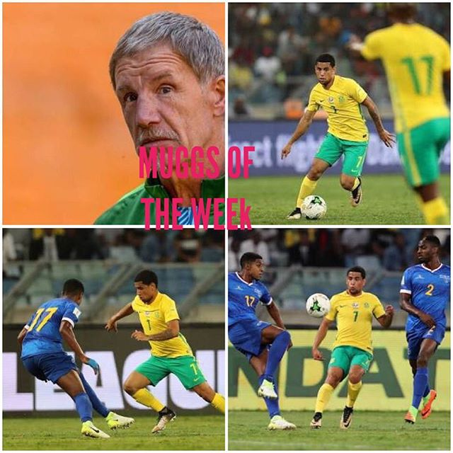 A group we could surely win. We lose back to back against Cape Verde. So what are the faults. A Foreign coach again. Choice of venue and playing at sea level. Looks bleak. In the voice of the cruel lady in the Weakest link, Bafana are the MUGGS of the Week. Goodbye