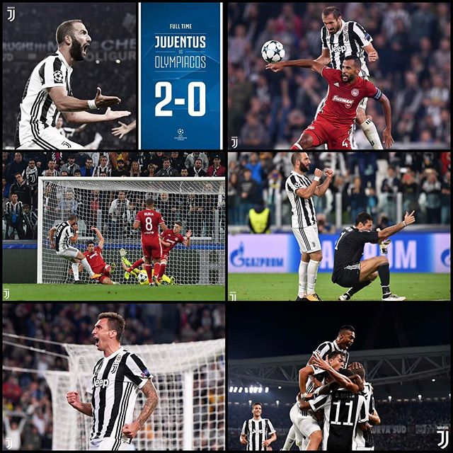 Great win to get the first Champions League win.Higuayn and Mario Manzukich. Took a while but we off. Forza Juve. Next trip Portugal