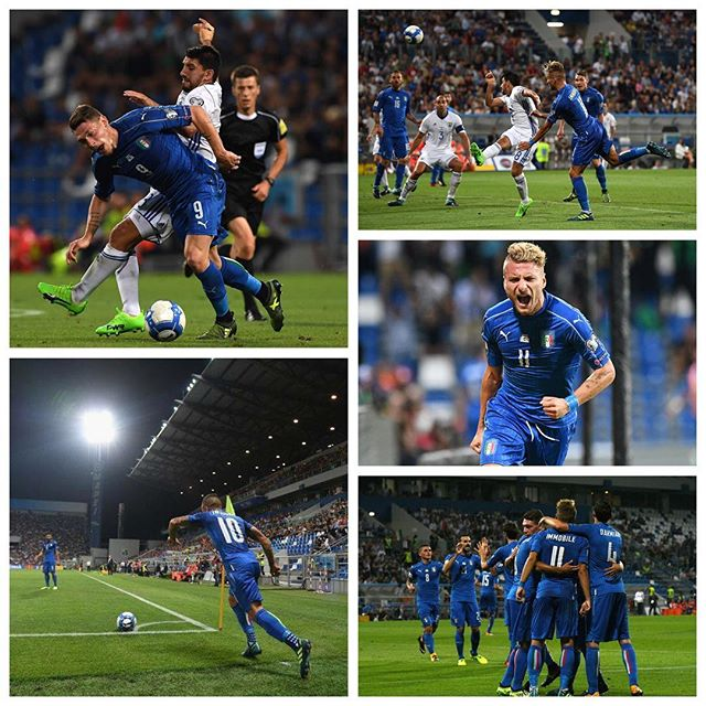 Italy 1 Israel 0. We cruise in second but Spain won't drop so it's definately the playoffs. Im worried . But Forza Azzurri