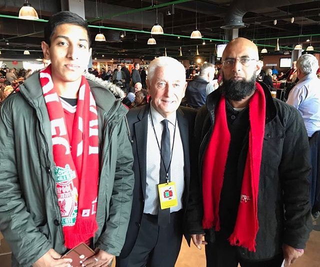 Roy Evans meets the LADS from Bately,  at Anfield before kick off vs Burnley