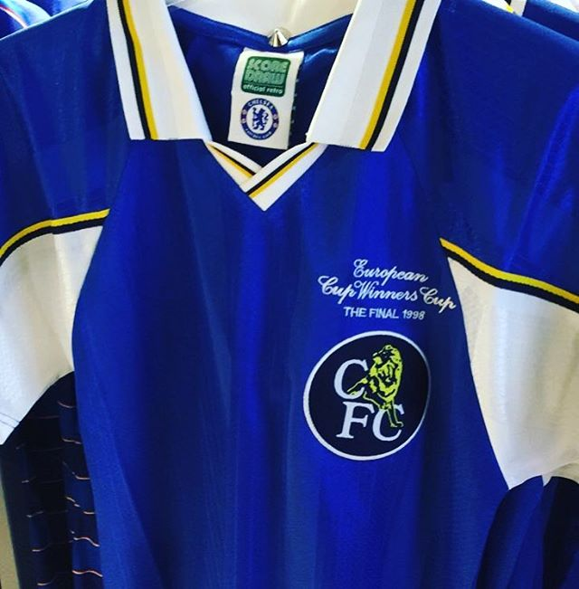 Chelsea 1998 Cup Winners Cup kit makes our Classic kit of the week