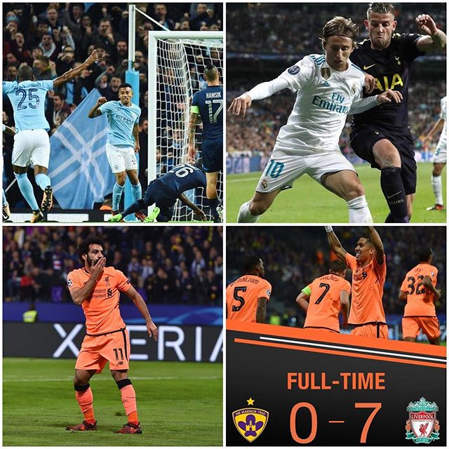 Great European Night for Liverpool as we Hammer Maribor 7. Spurs draw at the Beenabeau. Good win for City at home against Napoli. Tomorow it's Juvey.