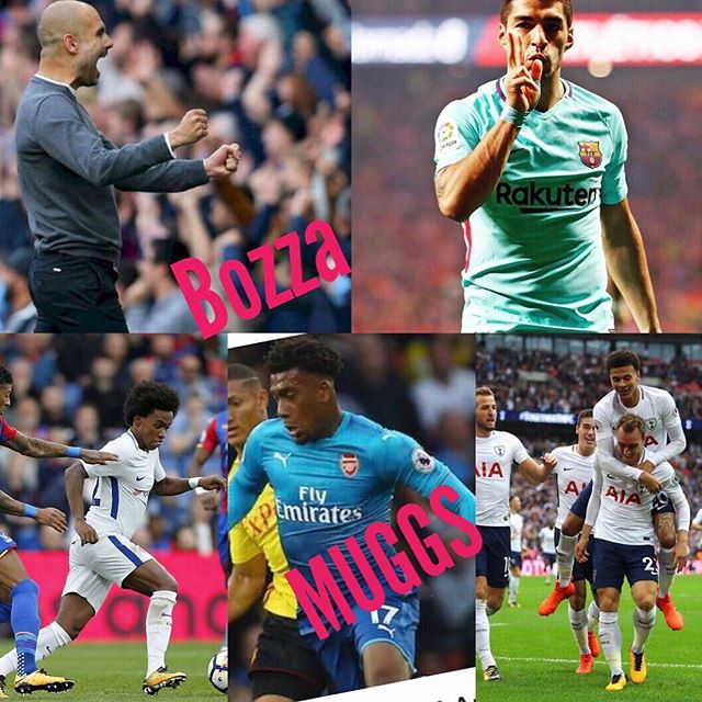 Weekend Footie Round Up. Pep is the Bozza of the week. Chelsea shocked at Palace. Barca and Atleti draw and our Muggs of the Week are Arsenal after loosing to Watford