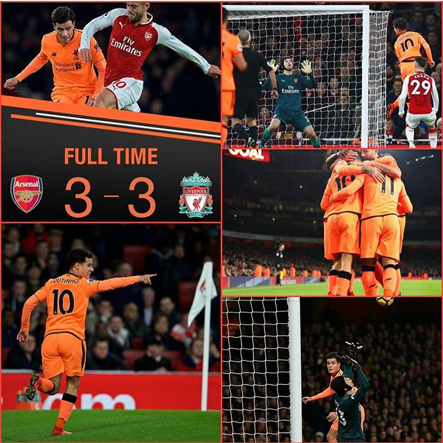 Arsenal 3 Liverpool 3. Your thoughts on the game?