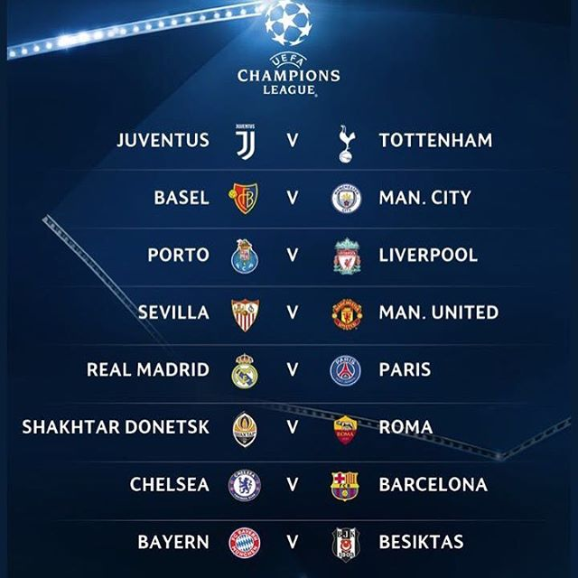 UEFA Champions League Draw. Your thoughts?