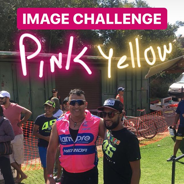 Fun Tri Image Challenge. JHBS hopes on my shoulder. Mission to take the Best Dressed Award away from Benoni