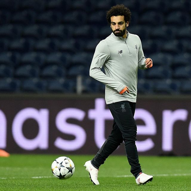 Calm before the Storm. Liverpool vs Porto tonight in Portugal. Mo Salah trains