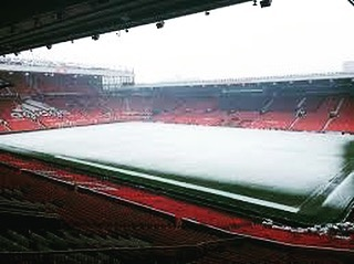 Old Trafford Today during heavy Snowfall by FRA (Fergies Red Army)