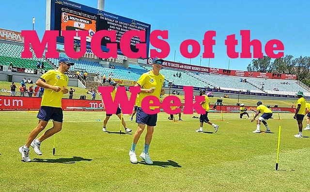 Our MUGGS of the Week are the Proteas after that dismal performance at Centurion. The referee and linesman in the Liverpool vs Spurs game was a close second. But in the voice of the Cruel Lady from The Weakest Link the Proteas are our MUGGS of the Week. Goodbye