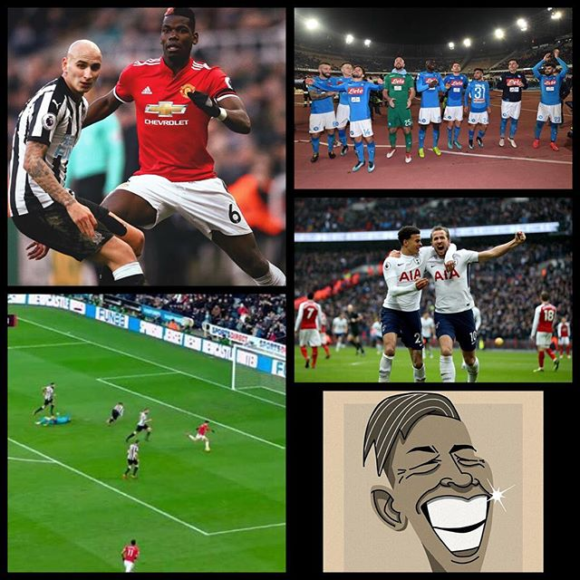What a weekend of Footie. Harry Kayne sinks Arsenal, Liverpool beat Soton and even more sweeter as the MANCS lost to Newcastle. Sanchez missed, Pogba was poor and the ABUS were making Masgheri. In Serie A Napoli Thumped Lazio to lead Juve by a point. How was The Weekend of Footie ?