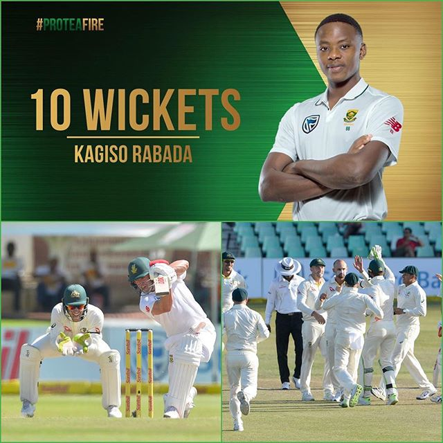 Didn't mention KG Rabadas great 10 wicket Haul. The SA Victory and Rabadas suspension from the series. Your thoughts?