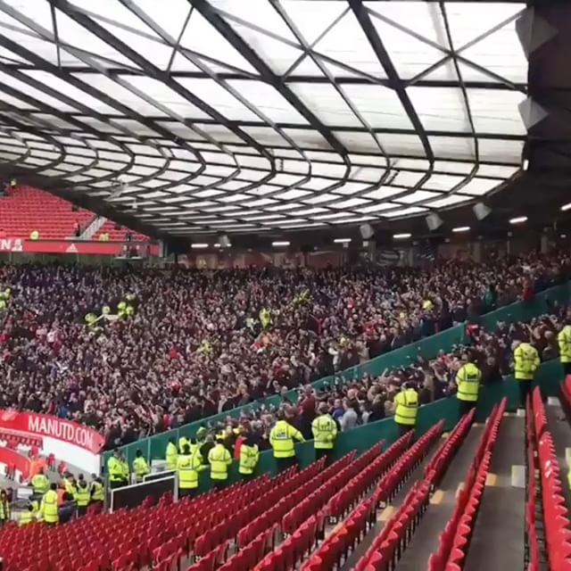 Liverpool Fans after the game at Old Trafford. From the UK KOP Lads