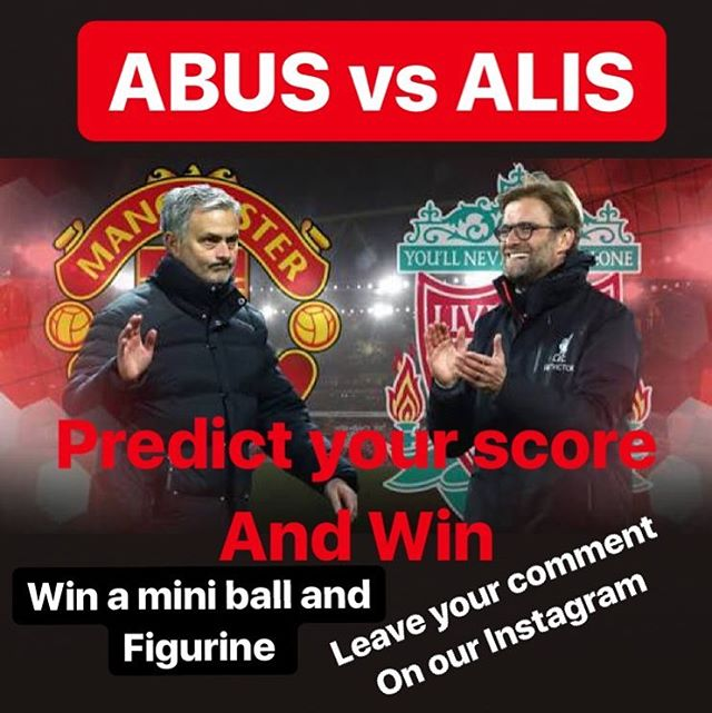 Man Utd vs Liverpool this weekend. It's Mussseeeeeeve. We hate them,They Hate us. It's about Izzet and Pride. Predict your score and WIN a champions League mini ball and Figurine