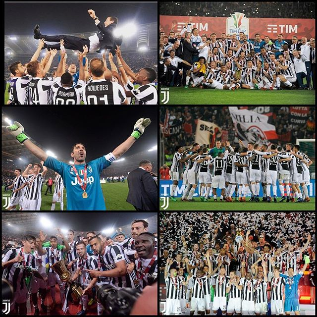 Juventus 4 AC Milan 0. Our 4th Coppa Italia Championship in a row. Great Juve performance although I must say Donaruma was to blame for the last three Milan goals. But we stay in Rome to secure the Scudetto. Forza Juve. Always a Bianconero