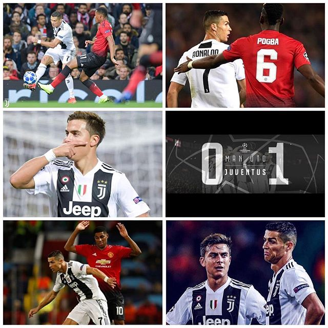 Man Utd 0 Juventus 1. Dybala goal secures a big 3 points. Better second half from the MANCs but I'm happy with the Juve performance. How were the DDG saves. Forza Juve-We await them in Turin. Valencia and Young boys drew. Good wins also for Man City,Ajax,Bayern and Real Madrid#manutd #juventus #manutdvsjuventus #juve #forzajuve #bianconero #uefachampionsleague #oldtrafford