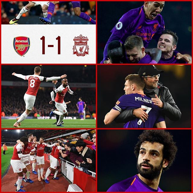 Arsenal 1 Liverpool 1. End to end stuff. Watched it with the lads and Liverpool man himself @faadiltayob. Fair result on the night. #liverpool #arsenal #arsenalvsliverpool #emirates #premierleague #epl