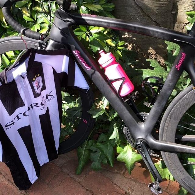 Thanks @designinmotioncycles for the Juventus inspired cycling Top ??. Forza Bianconeri the Blood will always be Black and White @storck.za #cycling #blackandwhite #DIM