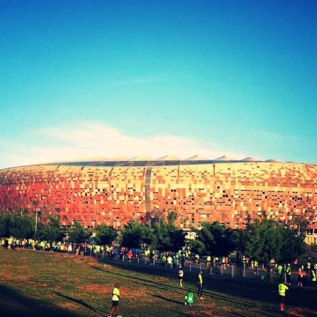 Soweto Marathon with the Majestic Calabash Soccer City Stadium in the background makes our Instagram pic of the day. Pic by Heshaam Emeran#jhb #jozi #sowetomarathon #marathon #run #running #runsa #runner #soweto #jhb #johannesburg #jhbevents #fitness #fitlife #runningmotivation