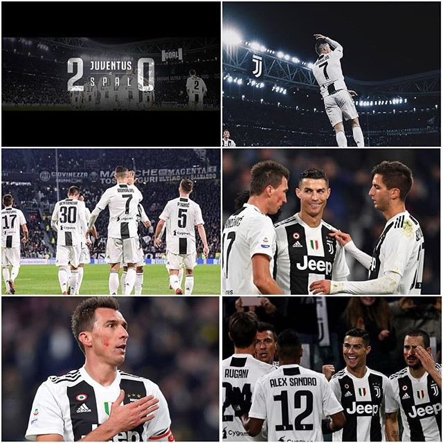 Juventus 2 SPAL 0. Another win,Another CR7 goal. Juve wrapped it up in Turin. Now to wrap up qualification in the Champions League as we host Valencia. Forza Juve#juve #juventus #forzajuve #juventusvsspal #alianzstadium #turin #seriea #serieatim #cr7 #ronaldo #manzukic