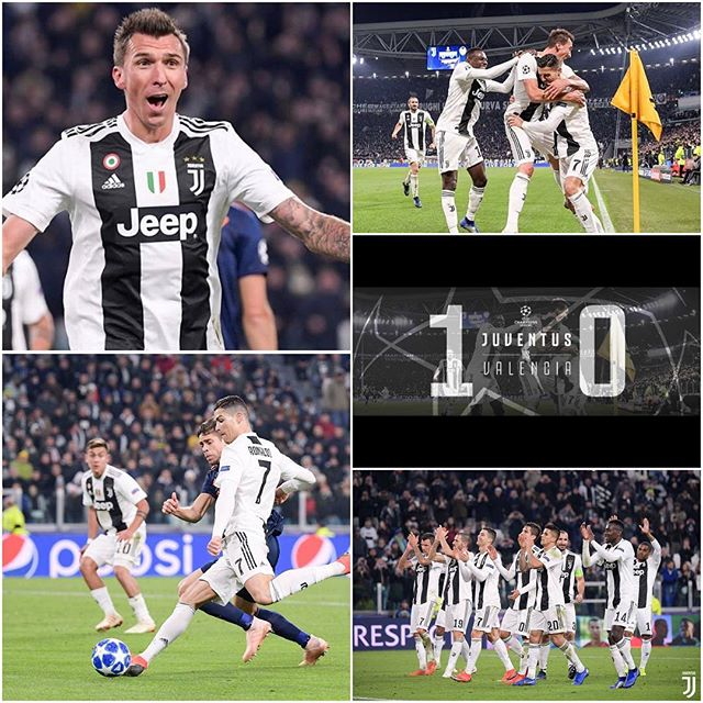 Juventus 1 Valencia 0. We qualify for the next stage. A win against Young Boys will win us the group. CR 7 assist for Manzukic to score. Solid Juve perfomance. And we have Schezny to thank for a point blank save before half time. First goal is achieved. Forza Juve. Mario Manzoookic...Strong Like a Ox ? #juventus #juve #forzajuve #juventusvsvalencia #alianzstadium #uefachampionsleague #mariomandzukic #juvefans #valencia