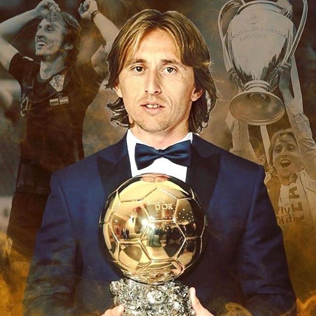 Luca Modric wins the Ballon D Or#modric #ballondor