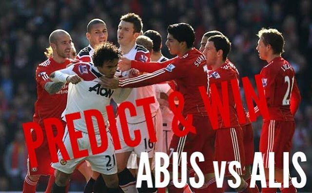 It's on the ABUS vs ALIS . Tomorow there's no friends. Predict your score and win a mini ball and Figurine. Our last winner was the World Cup Final Winner @zaaker_bham #manutd #liverpool #anfield #liverpoolvsmanutd #win #competition #predictor