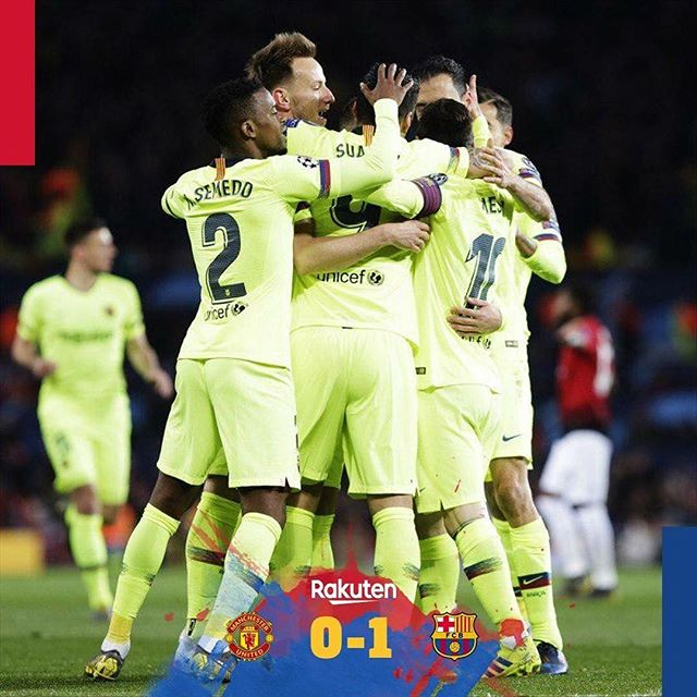 Barcelona 1 Man Utd 0. Gonna be difficult in the Camp Nou.