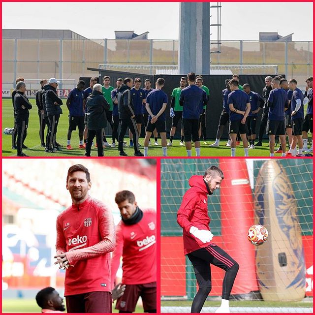 Calm before the Storm. Juve players prepare in Instagram. Messi and De Gea square off. Musseeeve European Night. We must take the tie away in Amsterdam tonight. For the MANCS sake Messi mustn't pitch