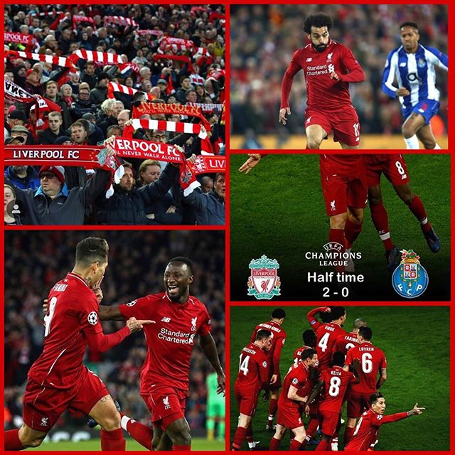 Liverpool 2 Porto 0. Great result. Great win as we head off to Porto