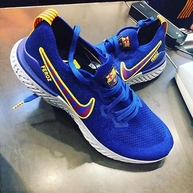 Nike React Barcelona LTD Edition by @ferozp1 makes our Sneaker of the week#kickz #allmykickzdope #sneakers #barcelona #nike #nikeshoes #nike? #nikefootball