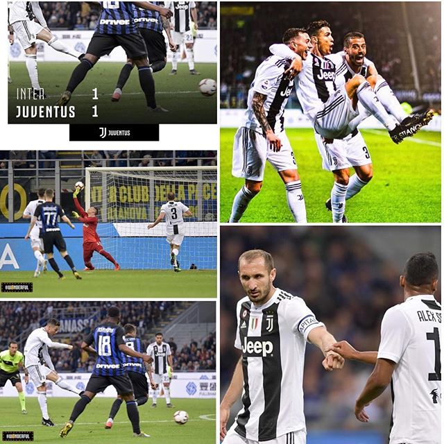 Inter Milan 1 Juventus 1. We share the spoils at the San Siro and another milestone for Ronaldo notching up his 600th League goal.Forza JuveAlways good to get a Derby result #intervsjuventus #juve #juventus #forzajuve #sansiro #juvefans #interfans #seriea #serieatim #ronaldo #cr7