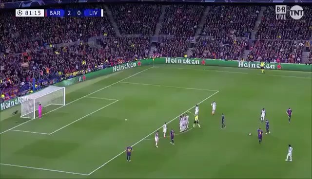 Let's have a look at that Messi Free kick again. #messi