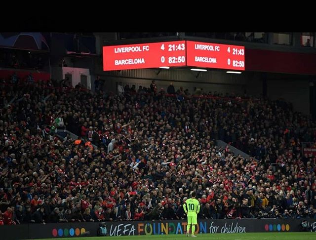 Liverpool 4 Barcelona 0. Talk Lads Talk. How you feeling? Roy of the Rovers Stuff this is #liverpoolvsbarcelona #liverpool #anfield #thisisanfield #ynwa #lfc #liverpoolfans #kopend #liverpoolfc