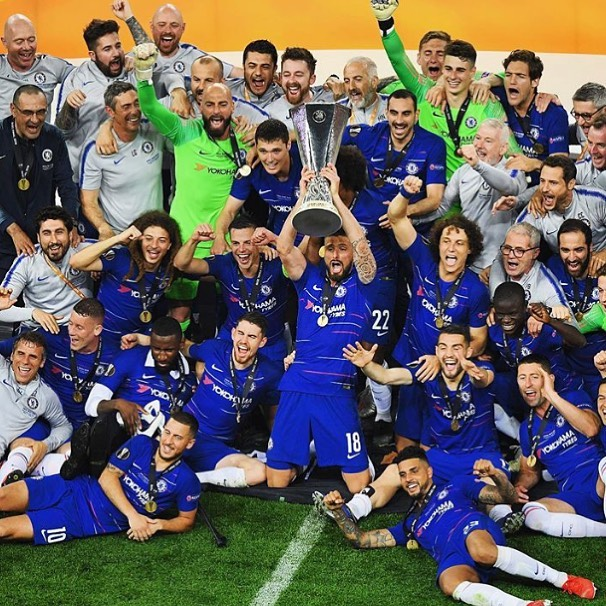 Chelsea 4 Arsenal 1. When Arsenal are shit they foooking Shit. Chelsea are Champions. #chelsea #chelseachampions #europaleague #champions #hazard