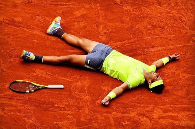 King of Clay. Rafael Nadal defeats Thiem to win his 12 French Open title at Roland Garos. Vamos Rafa #nadal #frenchopen #rolandgarros