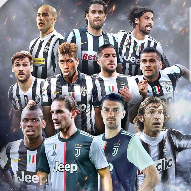 Juve's business in the Transfer Market. All these players snapped up on a FREE transfer#juventus