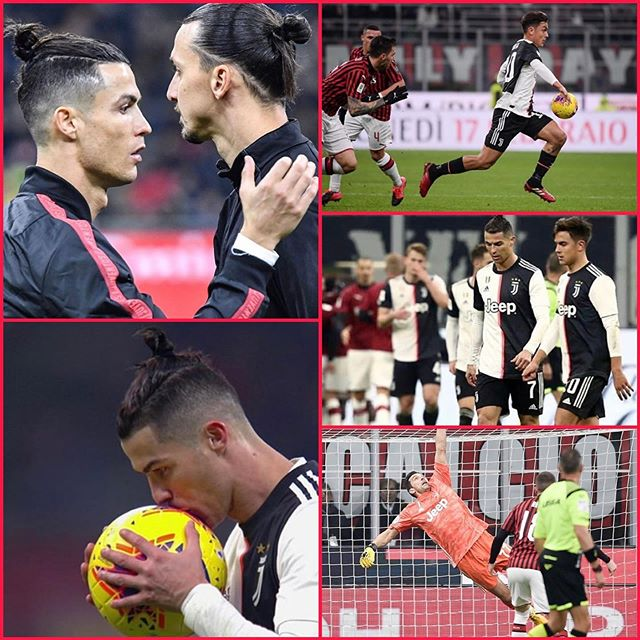 Finished 1-1 at the San Siro as Juventus drew level late in the game through a CR7 Penalty. Ronaldo's acrobatic volley was handled in the box and he scored from spot. Buffon made some great saves again. On the whole Juve suffered. Back to Turin for the second leg. Forza Juve #juventus #coppaitalia #juve #juventusfans #acmilanfans #sansiro #acmilanvsjuventus #zlatanibrahimovic #ronaldo #cr7