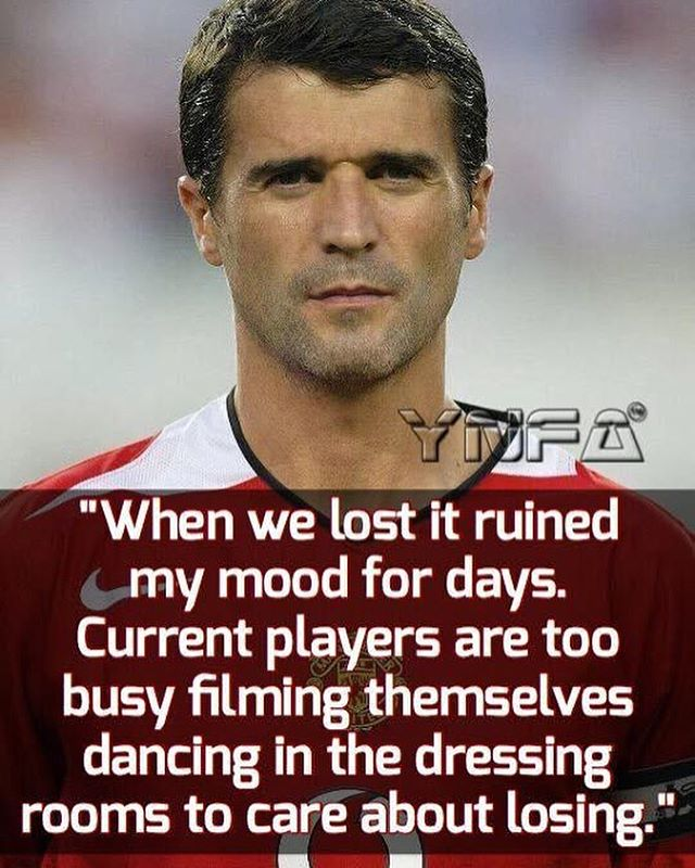 Former Republic of Ireland International Roy Keane #quoteoftheweek
