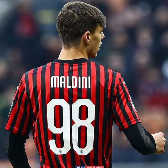 Speaking About litys. Christian Maldini played for Milan this past weekend. The son of Milan Legend Paolo Maldini. What a Thing #acmilan #paolomaldini