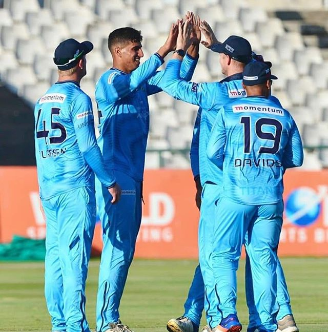 4 for 48 vs The Cape Cobras. Well done to our very own @abdulmanack Son Imraan. The son of JACK representing the Titans