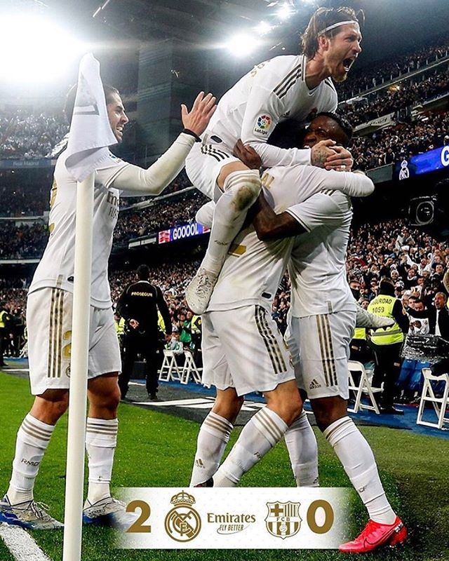 Real Madrid 2 Barcelona 0. What a game. Really enjoyed this Classico. Well deserved to an attacking,pacy and aggressive Real Madrid. #elclasico #realmadrid #realmadridvsbarcelona #realmadridfans #barcelonafans #laliga #santiagobernabeu